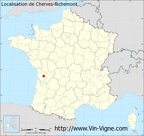 Carte  de Cherves-Richemont
