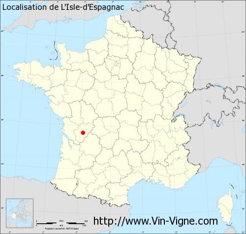 Carte de L'Isle-d'Espagnac