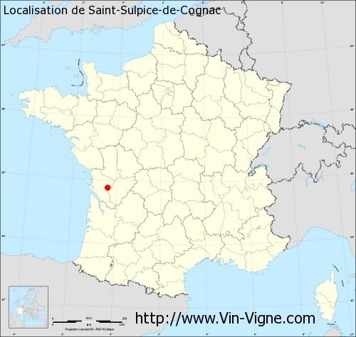 Carte de Saint-Sulpice-de-Cognac