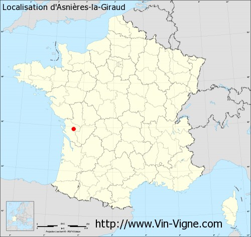Carte d'Asnières-la-Giraud