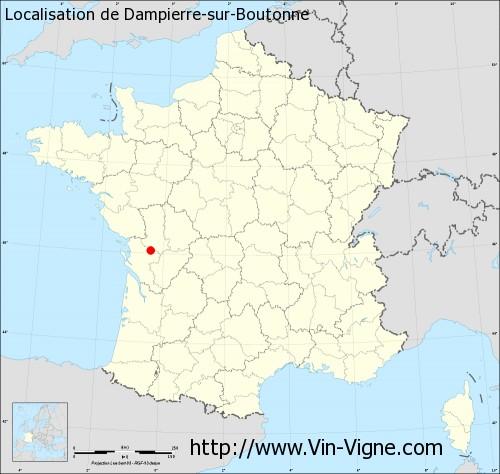 Carte de Dampierre-sur-Boutonne