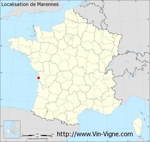 Carte de Marennes