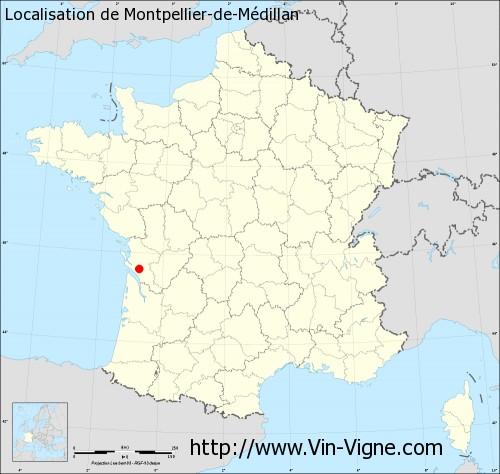 Carte de Montpellier-de-Médillan