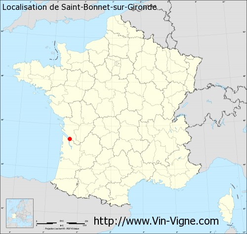 Carte de Saint-Bonnet-sur-Gironde