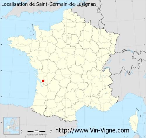 Carte de Saint-Germain-de-Lusignan