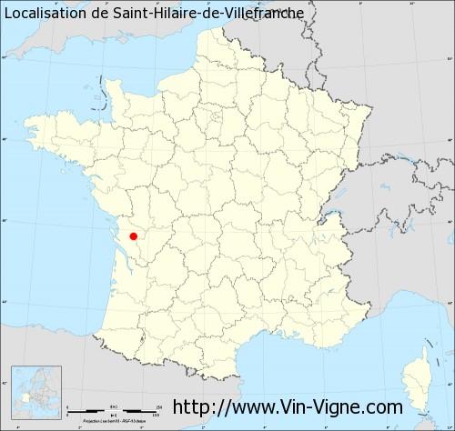 Carte de Saint-Hilaire-de-Villefranche