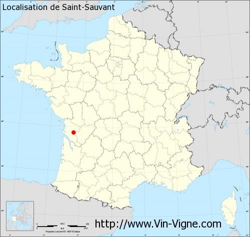Carte de Saint-Sauvant
