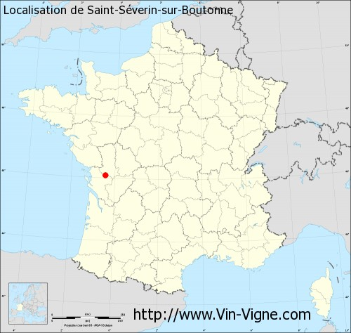 Carte de Saint-Séverin-sur-Boutonne