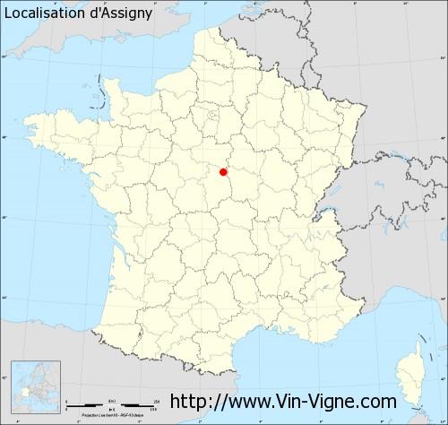 Carte d'Assigny