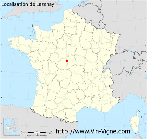 Carte de Lazenay