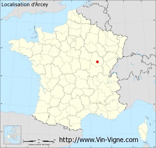 Carte d'Arcey
