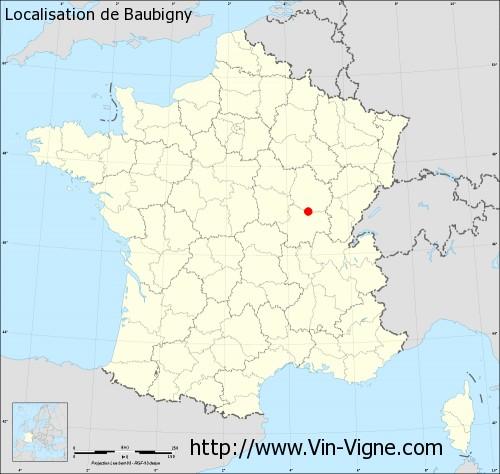 Carte de Baubigny