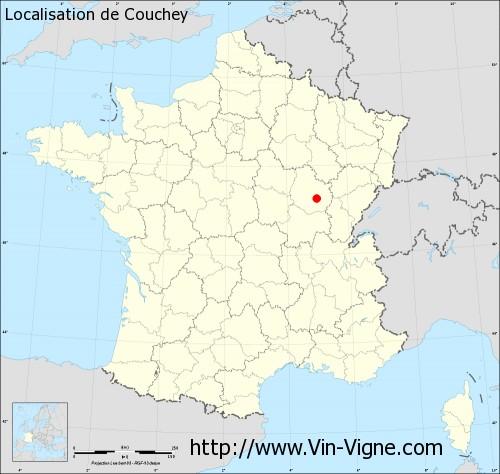 Carte de Couchey