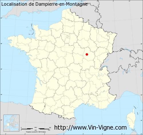 Carte de Dampierre-en-Montagne