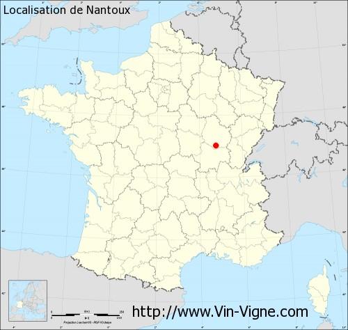 Carte de Nantoux