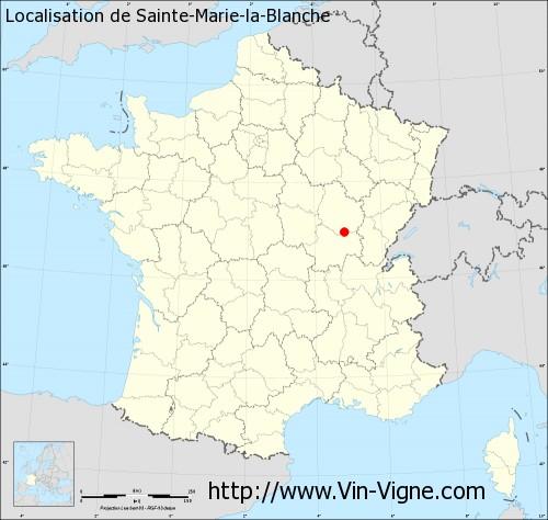 Carte de Sainte-Marie-la-Blanche