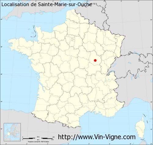 Carte de Sainte-Marie-sur-Ouche