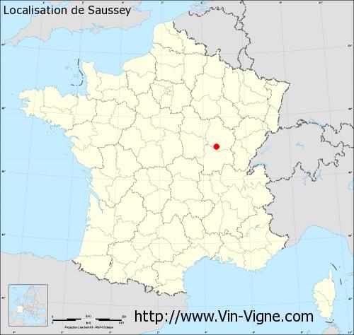 Carte de Saussey