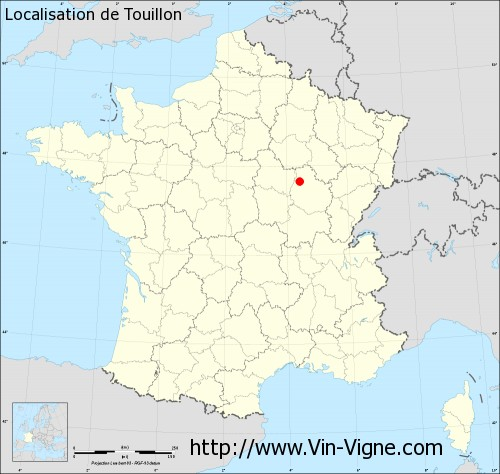 Carte  de Touillon