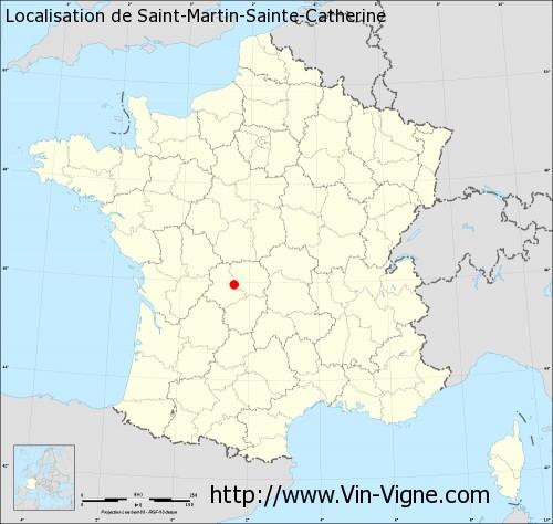 Carte de Saint-Martin-Sainte-Catherine
