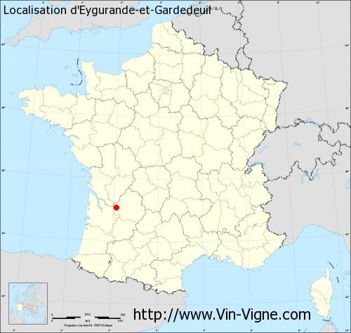 Carte  d'Eygurande-et-Gardedeuil