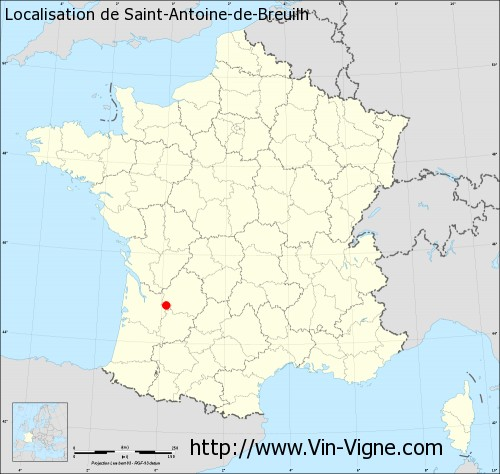 Carte de Saint-Antoine-de-Breuilh