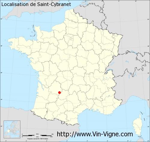 Carte de Saint-Cybranet