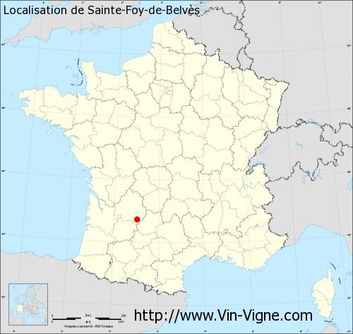 Carte de Sainte-Foy-de-Belvès