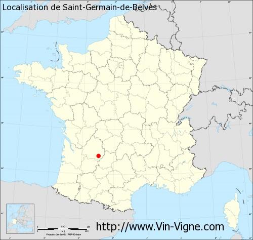Carte de Saint-Germain-de-Belvès