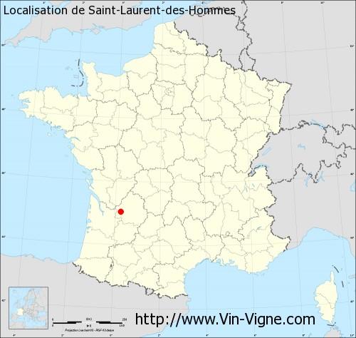 Carte de Saint-Laurent-des-Hommes