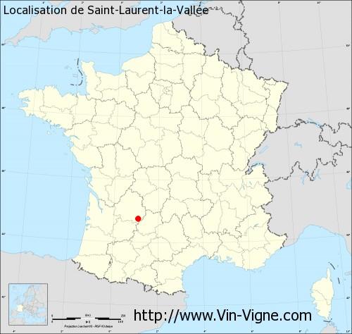 Carte de Saint-Laurent-la-Vallée