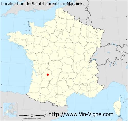 Carte de Saint-Laurent-sur-Manoire