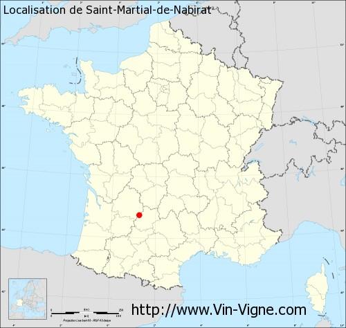 Carte de Saint-Martial-de-Nabirat
