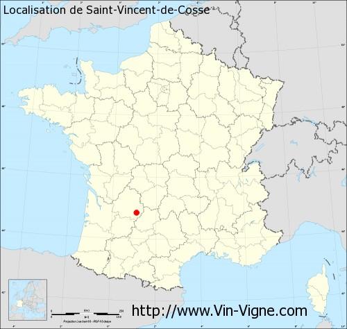 Carte de Saint-Vincent-de-Cosse