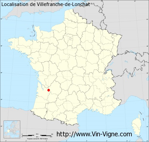 Carte de Villefranche-de-Lonchat