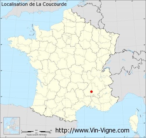 Carte de La Coucourde