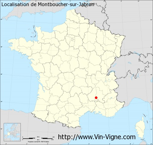 Carte de Montboucher-sur-Jabron