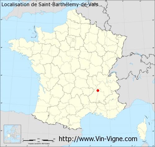 Carte de Saint-Barthélemy-de-Vals