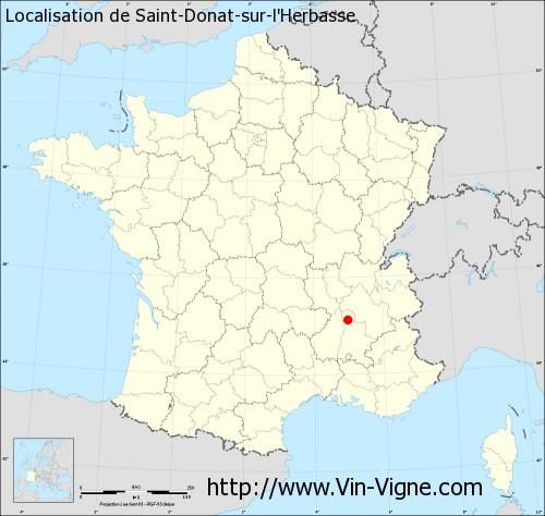 Carte de Saint-Donat-sur-l'Herbasse