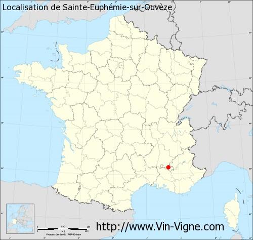 Carte de Sainte-Euphémie-sur-Ouvèze
