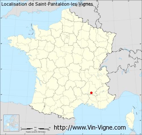 Carte de Saint-Pantaléon-les-Vignes