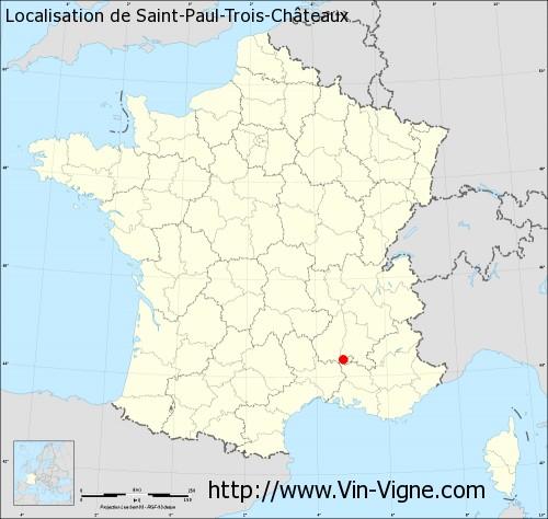 Carte de Saint-Paul-Trois-Châteaux