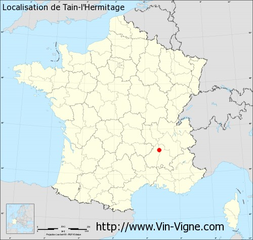 Carte de Tain-l'Hermitage