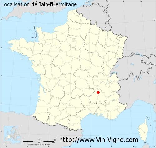Carte de Tain-l'Hermitage
