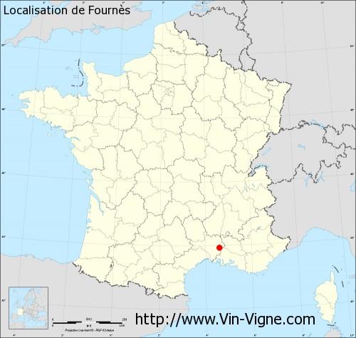 Carte de Fournès