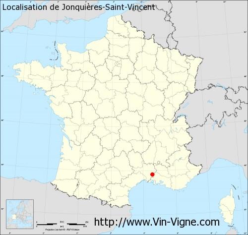 Carte de Jonquières-Saint-Vincent