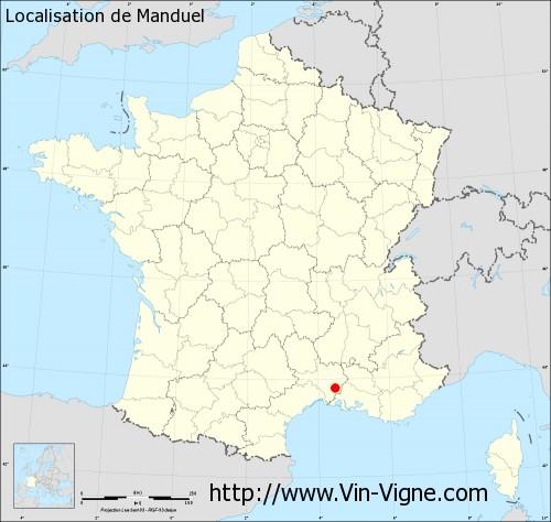 Carte de Manduel