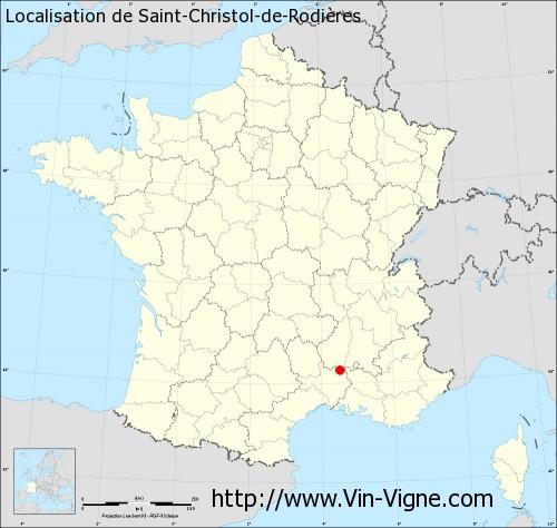 Carte de Saint-Christol-de-Rodières