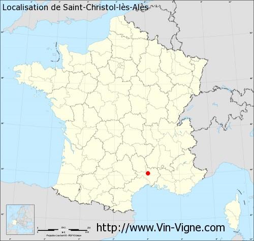 Carte de Saint-Christol-lès-Alès