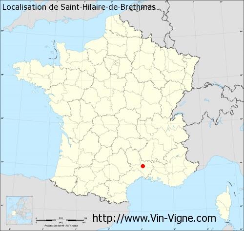 Carte de Saint-Hilaire-de-Brethmas